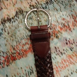 Talbots Xlg Woven Leather Belt